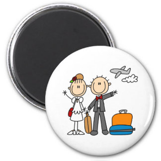 Honeymoon Time For The Bride And Groom Magnet