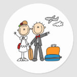 Honeymoon Time For The Bride And Groom Sticker