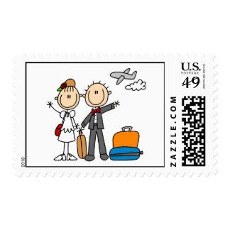 Honeymoon Wedding Postage Stamps