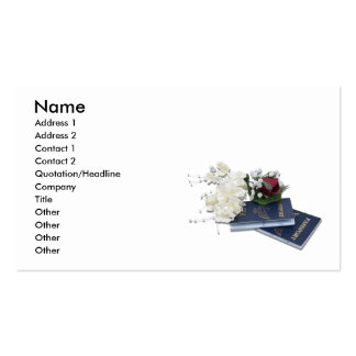 HoneymoonAbroad101610, Name, Address 1, Address... Double-Sided Standard Business Cards (Pack Of 100)