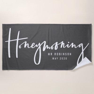Honeymooning Beach Towel