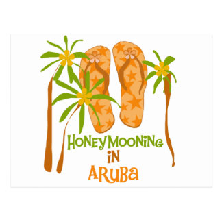 Honeymooning en Aruba Postal