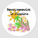 Honeymooning en Jamaica Etiquetas Redondas