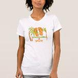 Honeymooning en la camiseta de Hawaii