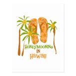 Honeymooning en la postal de Hawaii
