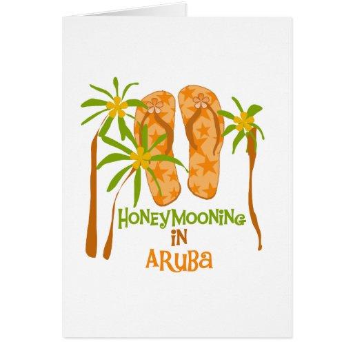 Honeymooning en la tarjeta de Aruba