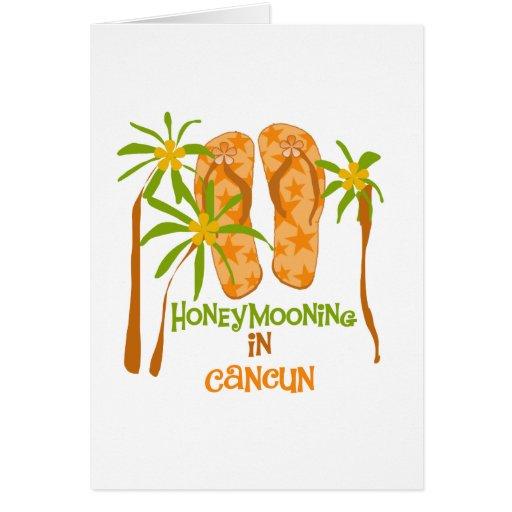Honeymooning en la tarjeta de Cancun