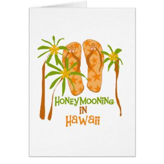 Honeymooning en la tarjeta de Hawaii