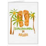 Honeymooning in Aruba Greeting Card