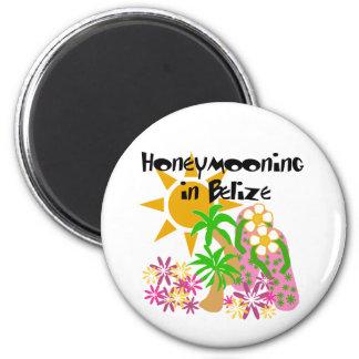Honeymooning in Belize 2 Inch Round Magnet