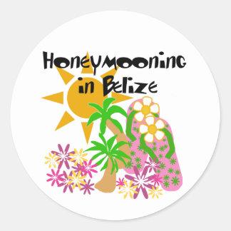 Honeymooning in Belize Classic Round Sticker