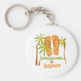 Honeymooning in Bermuda Keychain