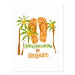 Honeymooning in Bermuda Postcard