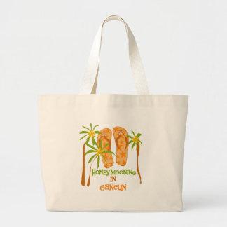 Honeymooning in Cancun Large Tote Bag