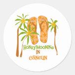 Honeymooning in Cancun Sticker
