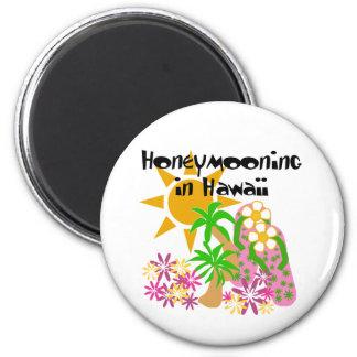 Honeymooning in Hawaii 2 Inch Round Magnet
