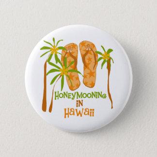 Honeymooning in Hawaii Pinback Button