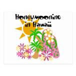 Honeymooning in Hawaii Postcard