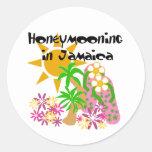 Honeymooning in Jamaica Round Stickers