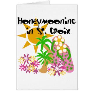 Honeymooning in St. Croix Card