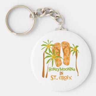 Honeymooning in St. Croix Keychain