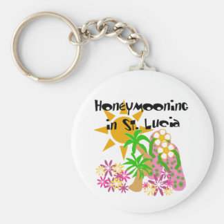 Honeymooning in St. Lucia Keychain