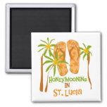 Honeymooning in St. Lucia Magnet