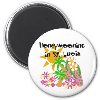 Honeymooning in St. Lucia Refrigerator Magnet
