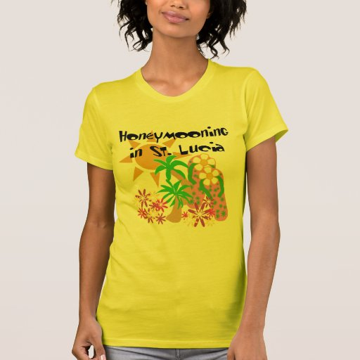 Honeymooning in St. Lucia T-shirts
