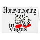 Honeymooning In Vegas Greeting Cards