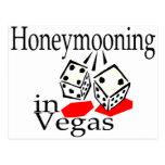 Honeymooning In Vegas Postcard