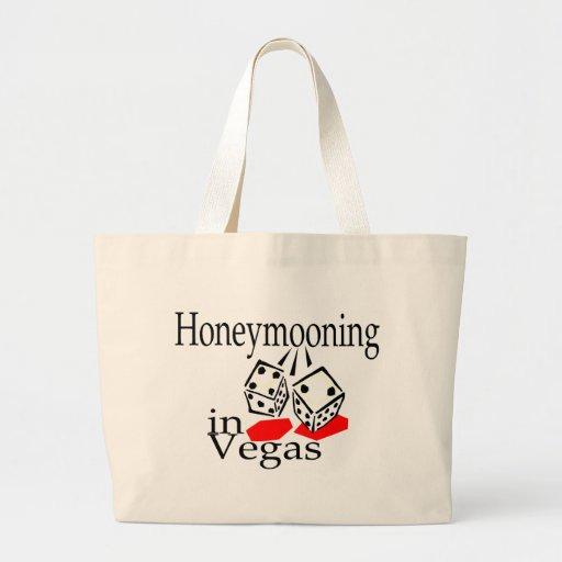 Honeymooning In Vegas Tote Bags