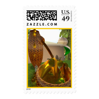 Honeypot and Acorns for Elves Postage Stamp