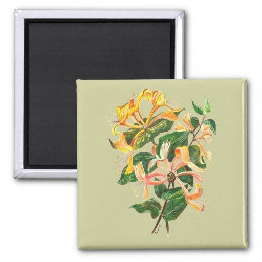 Honeysuckle Bouquet Fridge Magnets