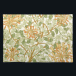 """Honeysuckle by William Morris Placemat<br><div class=""""desc"""">A wallpaper design by William Morris from 1895 of a honeysuckle vine.</div>"""