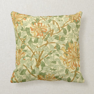 Honeysuckle by William Morris Throw Pillow
