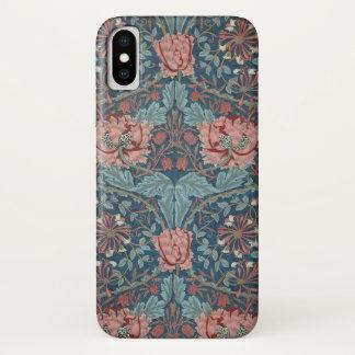 Honeysuckle by William Morris, Vintage Flowers Art iPhone X Case