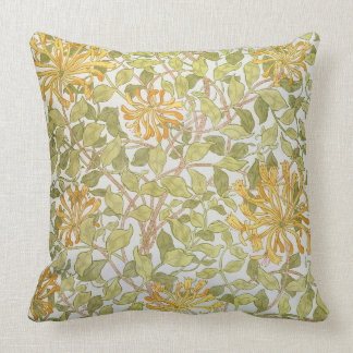 'Honeysuckle' design, 1883 Throw Pillows