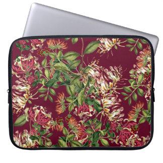 Honeysuckle Floral Botanical Flowers Laptop Sleeve