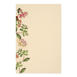 Honeysuckle Floral Botanical Flowers Stationery