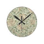 Honeysuckle Floral Wallpaper William Morris Clock