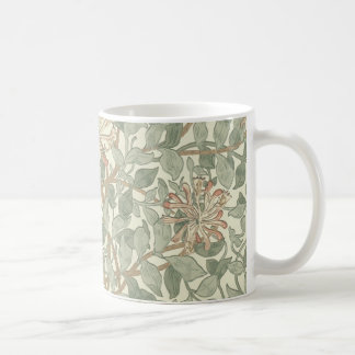 Honeysuckle Floral Wallpaper William Morris Coffee Mug
