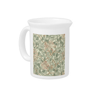 Honeysuckle Floral Wallpaper William Morris Drink Pitcher