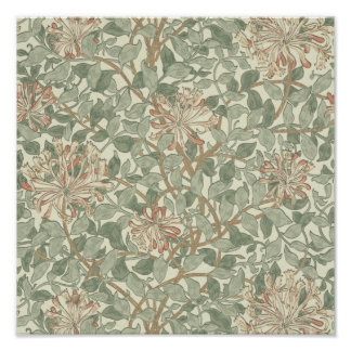 Honeysuckle Floral Wallpaper William Morris Poster