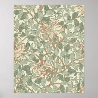 Honeysuckle Floral Wallpaper William Morris Print