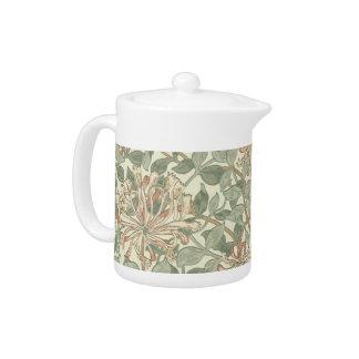 Honeysuckle Floral Wallpaper William Morris Teapot