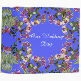 Honeysuckle Flower Floral Wedding Day Avery Binder