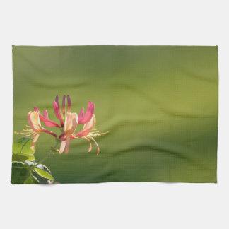 Honeysuckle flower kitchen towels