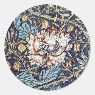 Honeysuckle Flower William Morris Classic Round Sticker