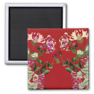 Honeysuckle Flowers Floral Garden Magnet
